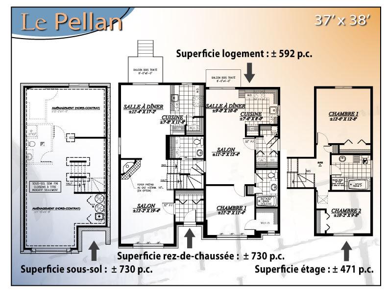 Le pellan interg n ration for Modele maison intergeneration